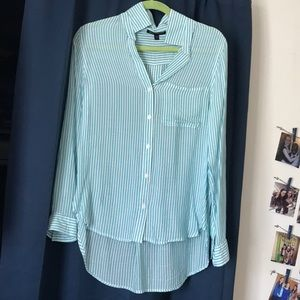 Pinstripe Button Down